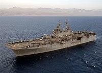 US Navy 030604-N-2819P-153 USS Kearsarge (LHD-3) steams in the Gulf of Aqaba.jpg