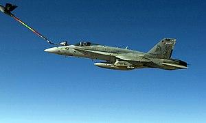 VFA-147 - VFA-147 F/A-18C refuels in 2005