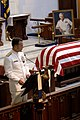 US Navy 050723-N-5390M-001 Adm. Mike Mullen, Chief of Naval Operations (CNO), pays tribute to retired Vice Adm. James B. Stockdale.jpg