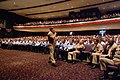 US Navy 050802-N-0962S-158 Master Chief Petty Officer of the Navy (MCPON) Terry Scott speaks to approximately 1,200 chief petty officers (CPO) and CPO selectees at the Naval Amphibious Base Little Creek base theater.jpg