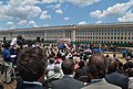 US Navy 060615-N-2383B-018 Secretary of Defense Donald H. Rumsfeld makes remarks at a Pentagon groundbreaking ceremony for the 9-11 memorial monument.jpg