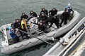 US Navy 070206-N-3390M-003 While in port, the guided missile frigate USS Ford (FFG 54) Visit, Board, Search and Seizure (VBSS) team practices scenario drills.jpg