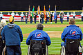 US Navy 070403-N-5384B-200 Veterans of foreign wars watch a pre-game ceremony for an Armed Forces Night held during a Major League Baseball (MLB) game.jpg