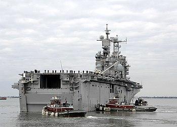 English: NORFOLK, Va. (Feb. 20, 2008) Tug boat...