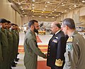 US Navy 100324-N-0000X-001 Chief of Naval Staff of the Pakistan Navy Adm. Noman Bashir meets with the aircrew of Pakistan Navy No. 28 Squadron.jpg