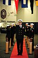 US Navy 120112-N-PW494-078 Rear Adm. Gregory M. Nosal passes through ceremonial sideboys during a change of command ceremony in which he relieved R.jpg