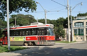 Public transportation in Toronto - A TTC ALRV at the east end of the 501 Queen streetcar route
