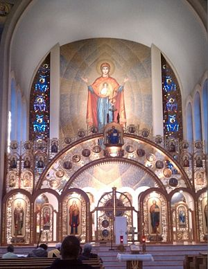 Ukrainian Catholic Archeparchy of Philadelphia - Iconostasis at the Ukrainian Cathedral of the Immaculate Conception in Philadelphia.