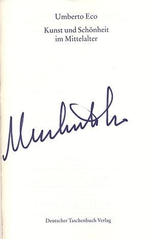 Autogramm von Umberto Eco