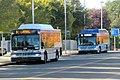 Union City Transit buses at Union City station, October 2017.JPG