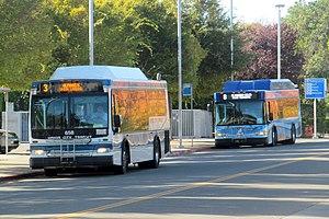 Union City Transit - Union City Transit buses at Union City station