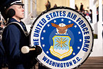 United States Air Force Band passes presidential reviewing stand 130121-Z-QU230-345.jpg