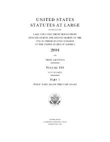 United States Statutes at Large Volume 118.djvu