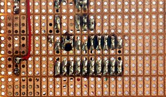 Stripboard - TriPad stripboard has strips of copper broken up into three-hole sections