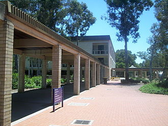 University of Canberra - Along the UC concourse, towards the Library