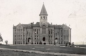 "Laramie, Wyoming - ""Old Main"" building at the University of Wyoming in Laramie - 1908"