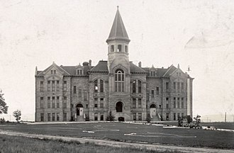University of Wyoming - Old Main pictured in 1908