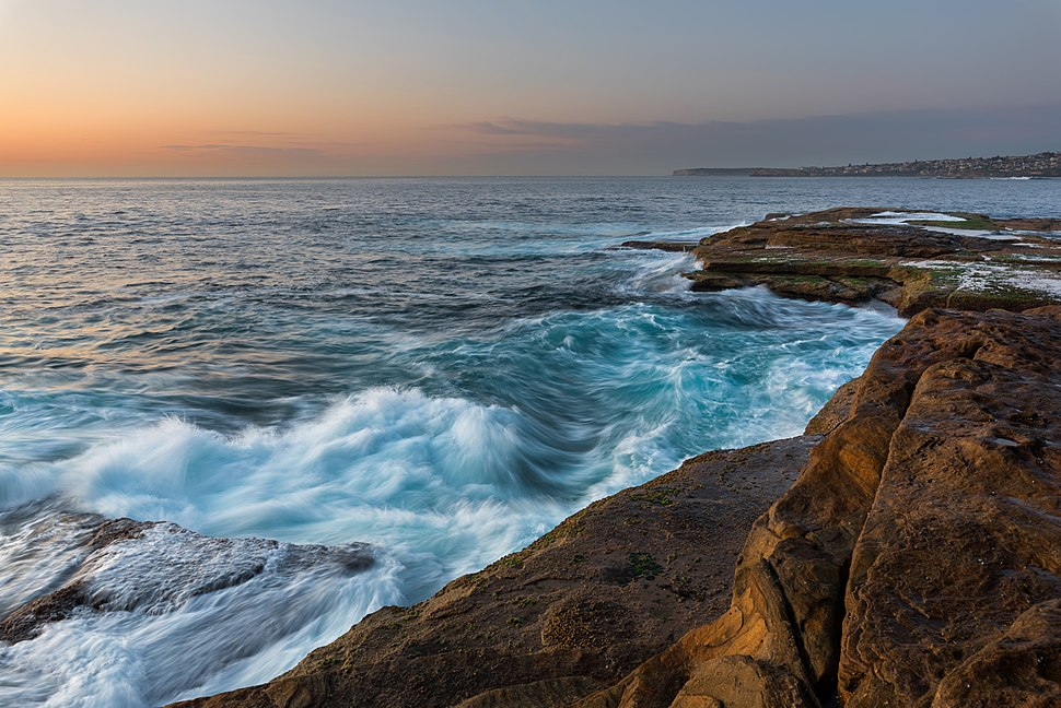 Unrest Sea During Sunrise In Sydney