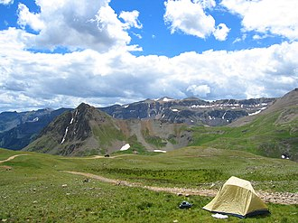Yankee Boy Basin - View of Upper Yankee Boy Basin, near the trailhead for Mount Sneffels.