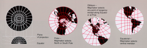 Gnomonic projection - Examples of gnomonic projections