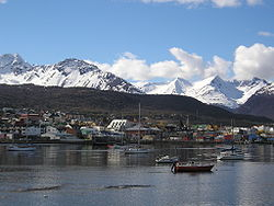 Ushuaia viewed from Pasaje Pedro Luis Fique