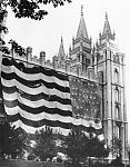 Utah statehood flag on Salt Lake Temple.jpg