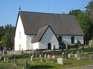 Vätö Church church building in Norrtälje Municipality, Stockholm County, Sweden