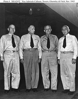 John Henry Towers - VADM Towers, second from left, in 1943