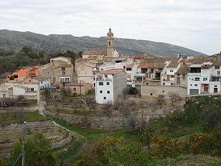 La Vall de Gallinera Municipality in Valencian Community, Spain