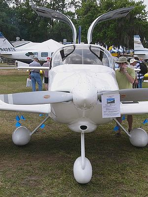 Van's Aircraft RV-10 - The RV-10 from the front, showing the gull-winged doors for cabin entry