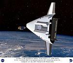 VentureStar by Lockheed Martin Releasing Satellite - Computer Graphic DVIDS735783.jpg