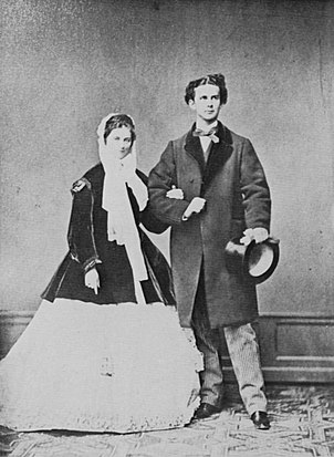 Ludwig II and his fiancée Duchess Sophie in Bavaria in 1867 (Source: Wikimedia)