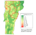 Vermont population map1.png