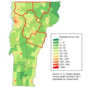 Vermont population map1