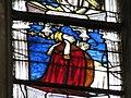 """Verrière des """"3 Marie"""" - pape Eugène IV sous la Vierge à l'Enfant Notre-Dame, Évreux.JPG"""