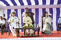 Vice Admiral Satish Soni with Andhra Pradesh CM Chandrababu Naidu, the Chief Guest on Navy Day 2014.JPG