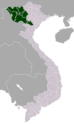 Northwest (Vietnam) - Location of the Tây Bắc (Northwest) region in Vietnam