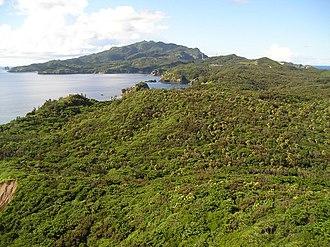 Hahajima - View of the southern tip of Hahajima, the Minamizaki peninsula