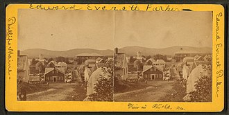 Phillips, Maine - Image: View in Phillips, Maine, from Robert N. Dennis collection of stereoscopic views