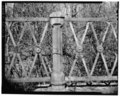 View northwest, detail of railing - Albion Trench Bridge, School Street spanning Albion Mill Race, Cumberland, Providence County, RI HAER RI,4-CUMB,5-6.tif