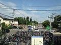 View of Mizuki Castle Ruins from Mizuki Station.jpg