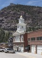View of Walsh Library building with mountain in background. Ouray, Colorado LCCN2015632391.tif