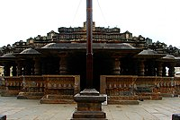 View of staggered square layout of mantapa of Harihareshwara Temple at Harihar.jpg