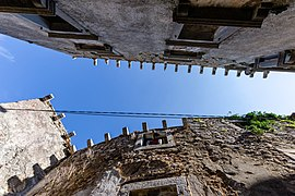 View to the sky from a tiny street, Plomin, Istria County, Croatia 09.jpg