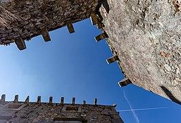 View to the sky from a tiny street, Plomin, Istria County, Croatia 10.jpg