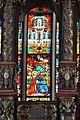 Viktring Stiftskirche Glasmalereien mittleres Fenster Jesus oberer Teil 07052011 115.jpg