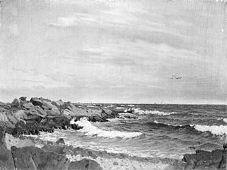 Klipper ved Rø. Bornholm