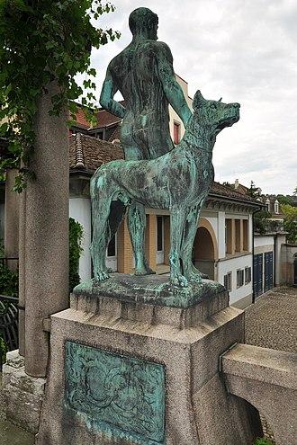 Richard Kissling - Jünglingsfigur, Villa Tobler in Zürich