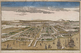 History of Jakarta - Image of Batavia, capital of the Dutch East Indies in what is now North Jakarta, circa 1780