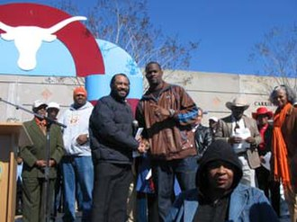 Vince Young - Vince Young along with Congressman Al Green at the Vince Young Parade in Houston on February 11, 2006